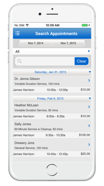 clinic booking management app