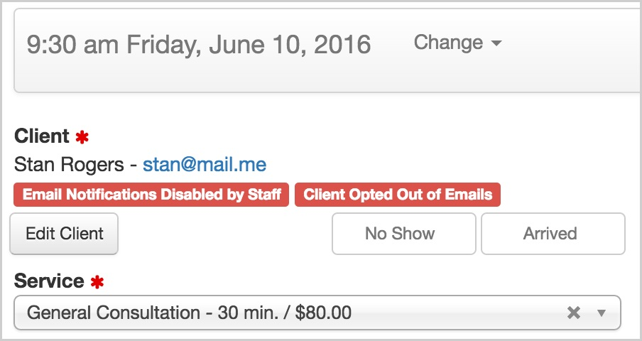 appointment scheduling and clinic management reminder emails and text messages - options