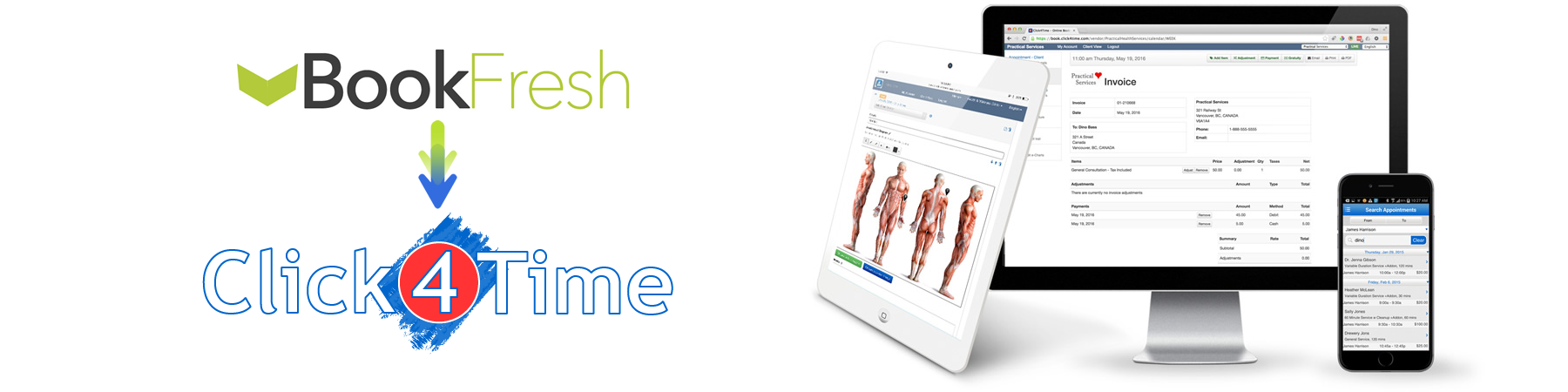 Looking for a BookFresh alternative, Click4Time is the easiest solution to convert too