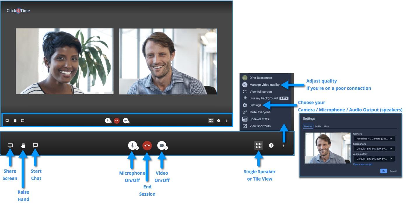 video conferencing controls